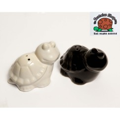Tortoise Salt and Pepper Pots