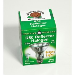 Basking Halogen Bulb 75 Watt R80 DISCONTINUED