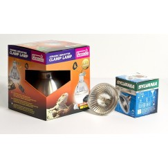 Basking Halogen Bulb R80 & Arcadia 140mm Clamp Lamp