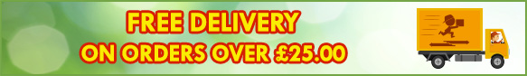 FREE DELIVERY on all orders over £20.00 on all items in this category