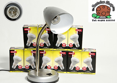 Basking Halogen Bulb R95 & Arcadia 140mm Clamp Lamp